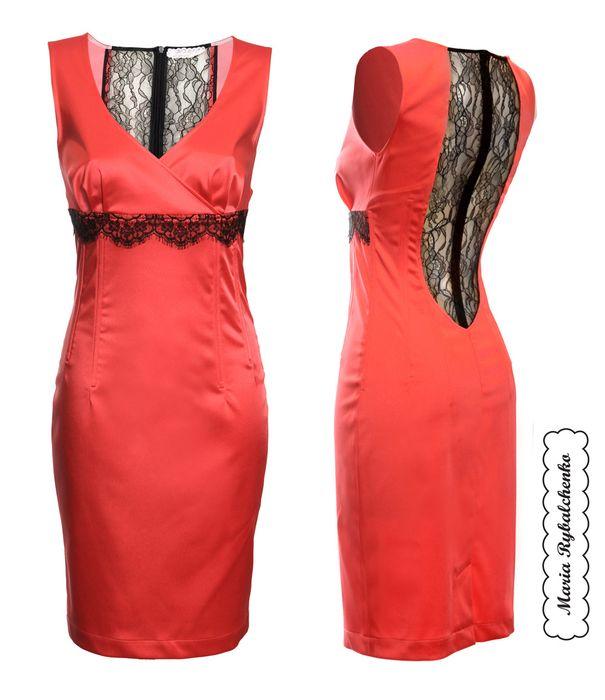Какое платье сшить красное платье 34
